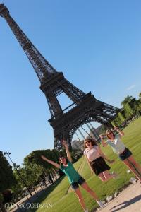 Friends at Eiffel Tower